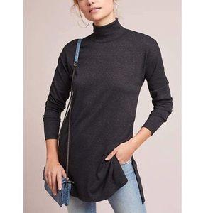 Vanessa Virginia Sparkel Mock neck Tunic Top